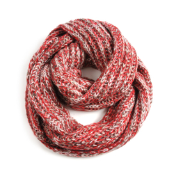 Snood grosse maille chiné ROUGE