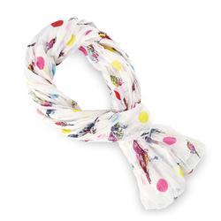 Chèche pur coton Luccel multicolore sur blanc