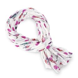 Chèche pur coton Luccel fuchsia sur blanc
