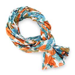 Chèche pur coton Rosière orange et bleu
