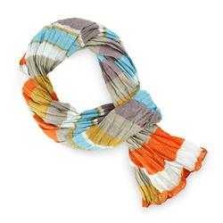 Chèche pur coton Linea sol bleu orange