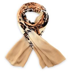 Etole soie Fin léopard marron