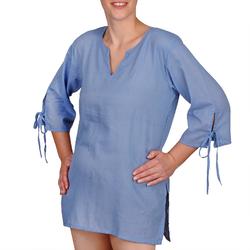 Blouse coton bleu jean