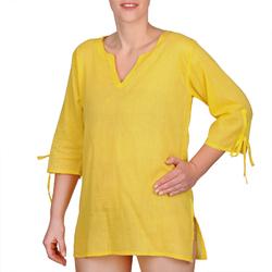 Blouse coton jaune
