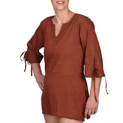Blouse coton marron