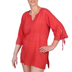 Blouse coton rouge