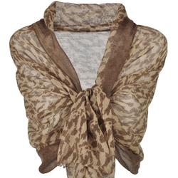 Etole laine tigrée Marron