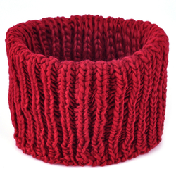 Cache cou tricot Rouge
