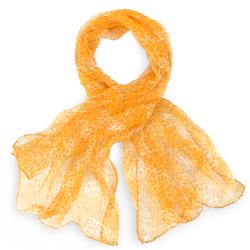 Foulard mousseline de soie <br/>Guépard jaune orangé