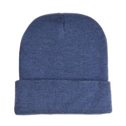 Bonnet court bleu jean