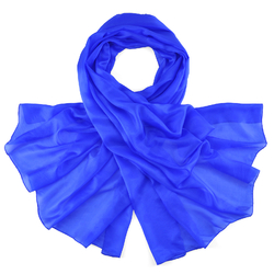 Etole soie bleu roi