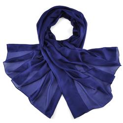 Etole soie bleu marine