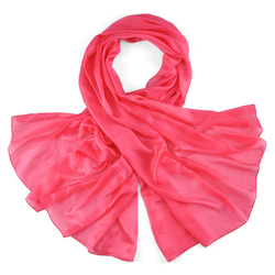 Etole soie rose exotique