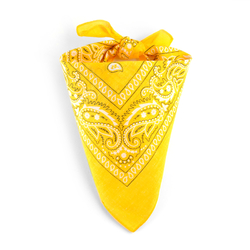 Foulard bandana jaune impérial