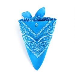 Foulard bandana bleu cyan