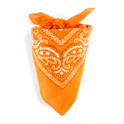 Foulard bandana mandarine