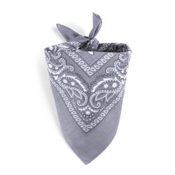 Foulard bandana gris