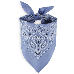 Foulard bandana gris argent