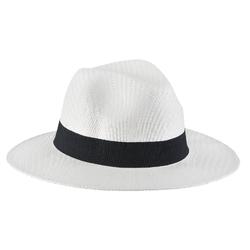 Chapeau borsalino Jipi <br/>Blanc galon noir