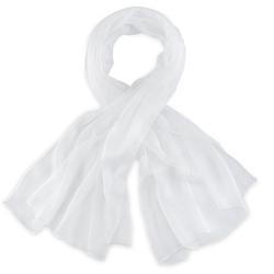 Foulard mousseline soie <br/>Blanc uni