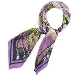 Carré de soie Furia lilas