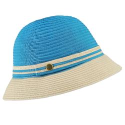 Chapeau cloche Fizy bleu