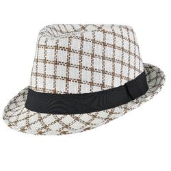 Chapeau trilby Azulejos <br/>Marron ruban noir