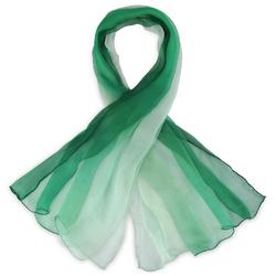 Foulard mousseline soie <br/>Vert dégradé