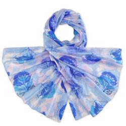 Etole soie Arboles bleu