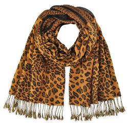 Echarpe léopard orangé