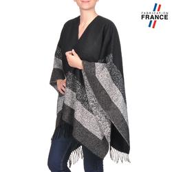 Poncho ample de fabrication française