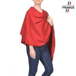 Poncho FANNY Rouge