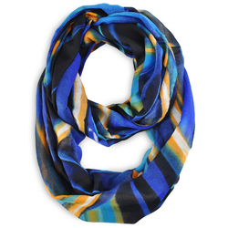 Snood Gribouille Bleu