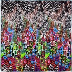Carré de soie SilkArt <br/>Abstraction multicolore
