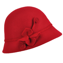 Chapeau cloche OPHA <br/>Rouge