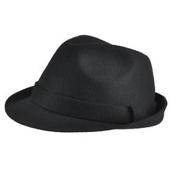 Chapeau feutre laine <br/>Trilby Noir