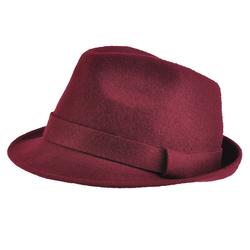 Chapeau feutre laine <br/>Trilby Bordeaux