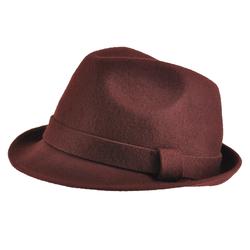 Chapeau feutre laine <br/>Trilby Marron