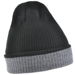 Bonnet réversible UMA <br/>Noir - Gris