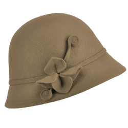 Chapeau cloche OPHA <br/>Taupe