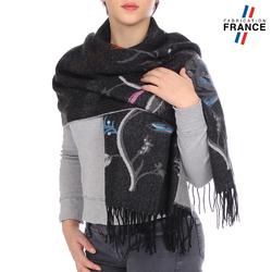 Châle noir fabriqué en FRANCE