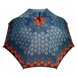 Parapluie long Femme <br/>Kolas Orange Bleu