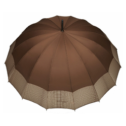 Parapluie droit Barbara <br/>Marron