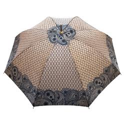 Parapluie droit Femme <br/>Vague Cachemire Ocre