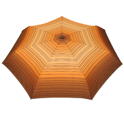 Mini parapluie O/F Automatique <br/>Linea Marron Orange