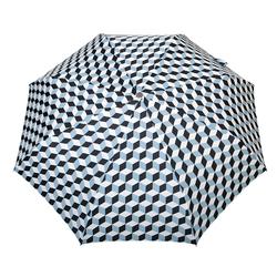 Parapluie pliant O/F Automatique <br>Cubic Ciel et Noir