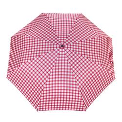 Parapluie pliant O/F Automatique <br>Vichy Rouge
