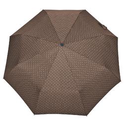 Parapluie pliant O/F Automatique <br/>Flocons Taupe