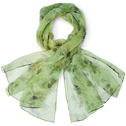 Foulard mousseline de soie <br/>Cardona Vert