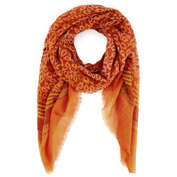 Echarpe étamine de laine Koks Lapu ORANGE
